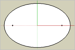 how to draw an oval in sketchup